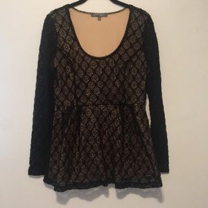 Catherine Malandrino Peplum Lace Top size medium